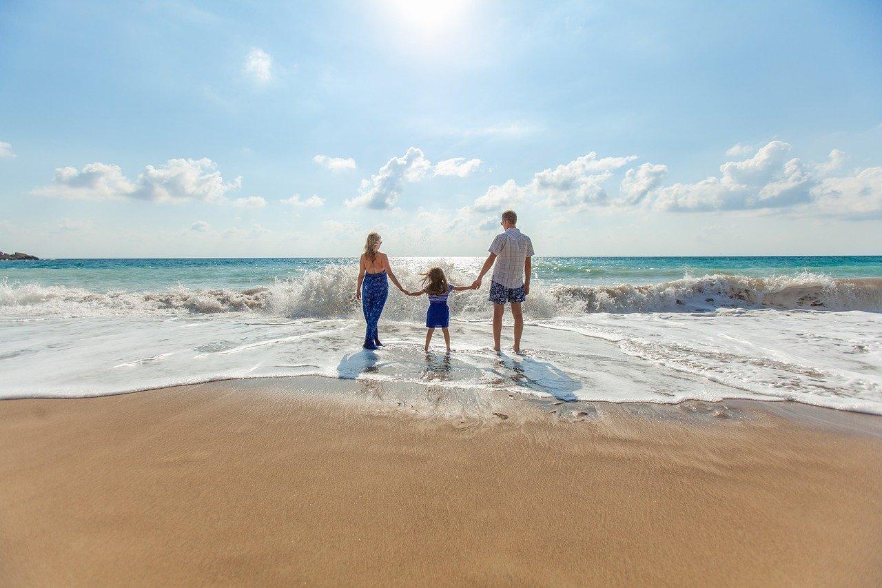 beach, family, fun