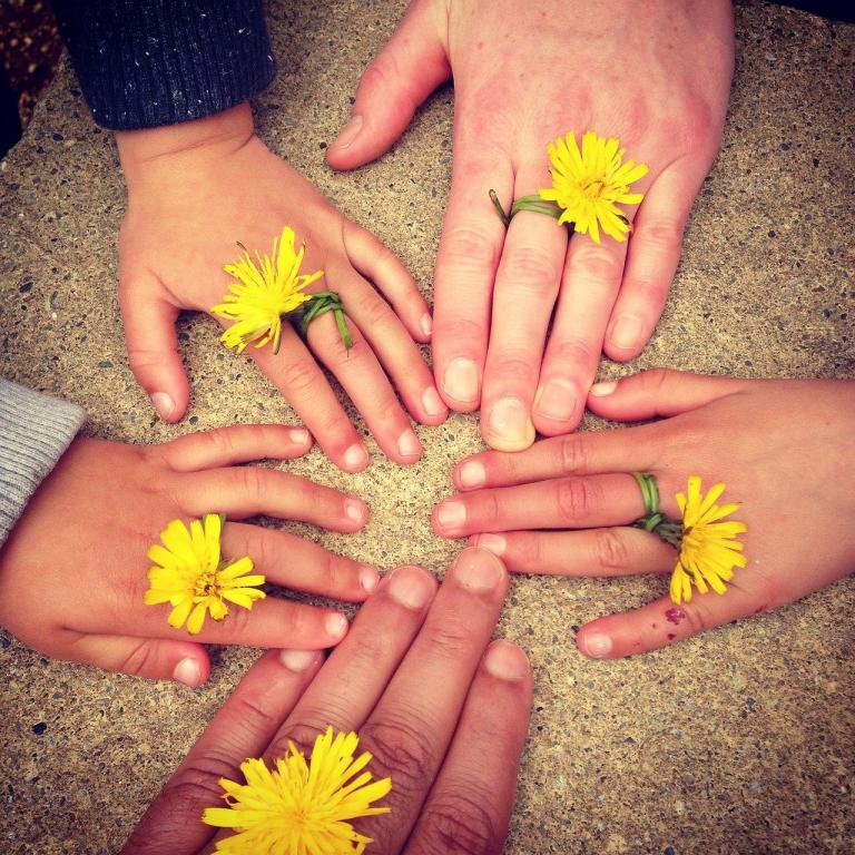 family hand, outdoors, ireland