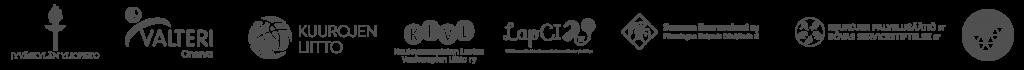 Yhteistyössä: Jyväskylän yliopisto, Valteri/Onerva, Kuurojen liitto, Kuulovammaisten lasten vanhempien liitto ry, LapCI, Suomen kuurosokeat ry, Kuurojen palvelusäätiö sr.  Tuettu veikkauksen tuotoilla.